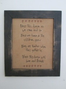 "13""x11"" framed stitchery  Price: $38.00"