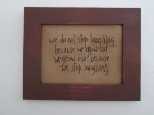 "8""x10"" framed stitchery  Price: $20.00"