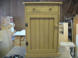 "Keeping Cabinet with two shelves plus the drawer is  31""Hx19""wx11""D $147.00"