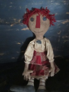"29"" Rae-Anna is made of very grubby muslin. She is a big girl and has individual fingers. $64.00"